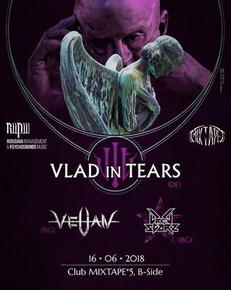Последни детайли за концерта на VLAD IN TEARS, VELIAN и DREG STARZ