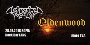 OLDENWOOD се присъединяват към концерта на DISTORTED REALITY на 28-ми юли в София